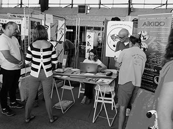 Membres du bureau du NAC Aïkido : Séance d'inscription au forum des associations de Nort-sur-erdre en septembre de chaque année.
